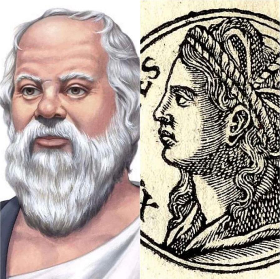 Sokrates ve Eşi Xantippe